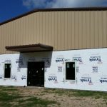 3 Office Warehouse Exterior Ready For Brick Veneer
