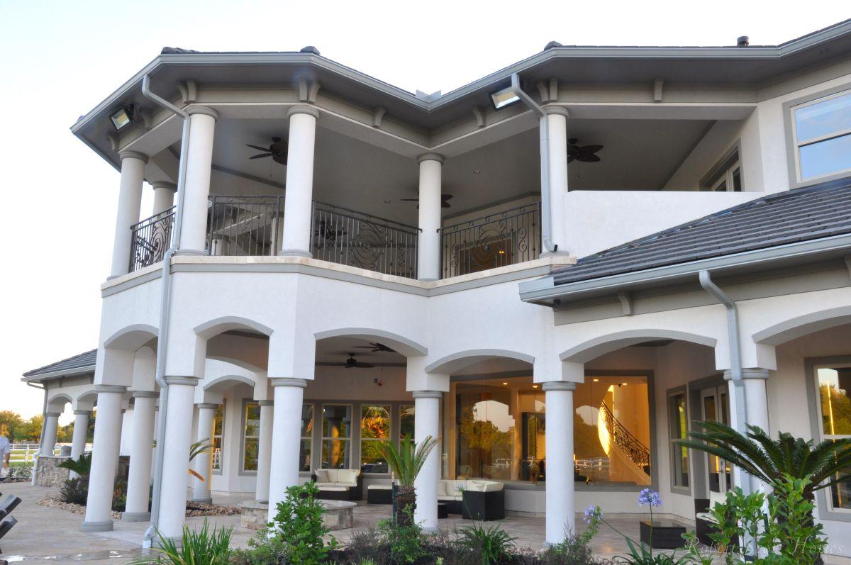 Columned Balcony