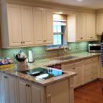 Painted Cabinets, Granite Counter, Tile Backsplash, Recess Lighting