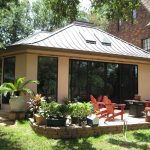 Pool Enclosure Stucco Exterior And Copper Roof