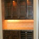 Stained Wood Wine Cabinet