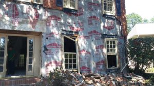 Flood Damage Restoration Exterior Brick Repairs