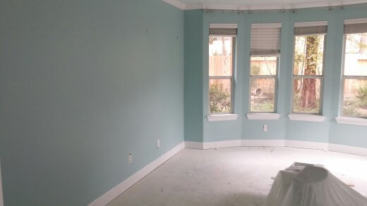 Fresh Paint On Walls And Trim